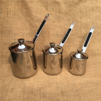 Stainless steel with a handle coffee pot