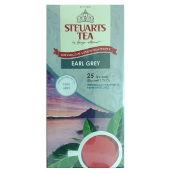 Steuarts Tea EARL GREY 25 Tea Bags Individually Wrapped