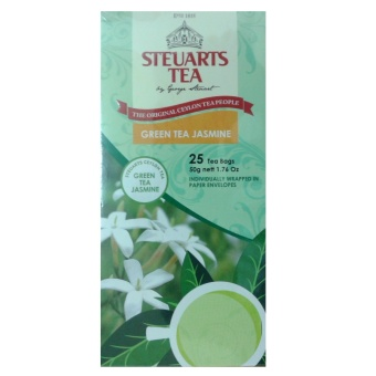 Steuarts Tea GREEN TEA JASMINE 25 Tea Bags Individually Wrapped