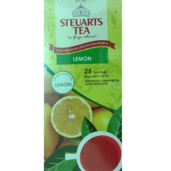 Steuarts Tea LEMON 25 Tea Bags Individually Wrapped