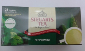 Steuarts Tea PEPPERMINT 25 tea bags individually wrapped