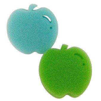 Stick 'N Style Stick-on Kitchen Apple Sponge Set of 2 (Multicolor)