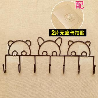 Strong door on the clothes rack wall traceless adhesive hook