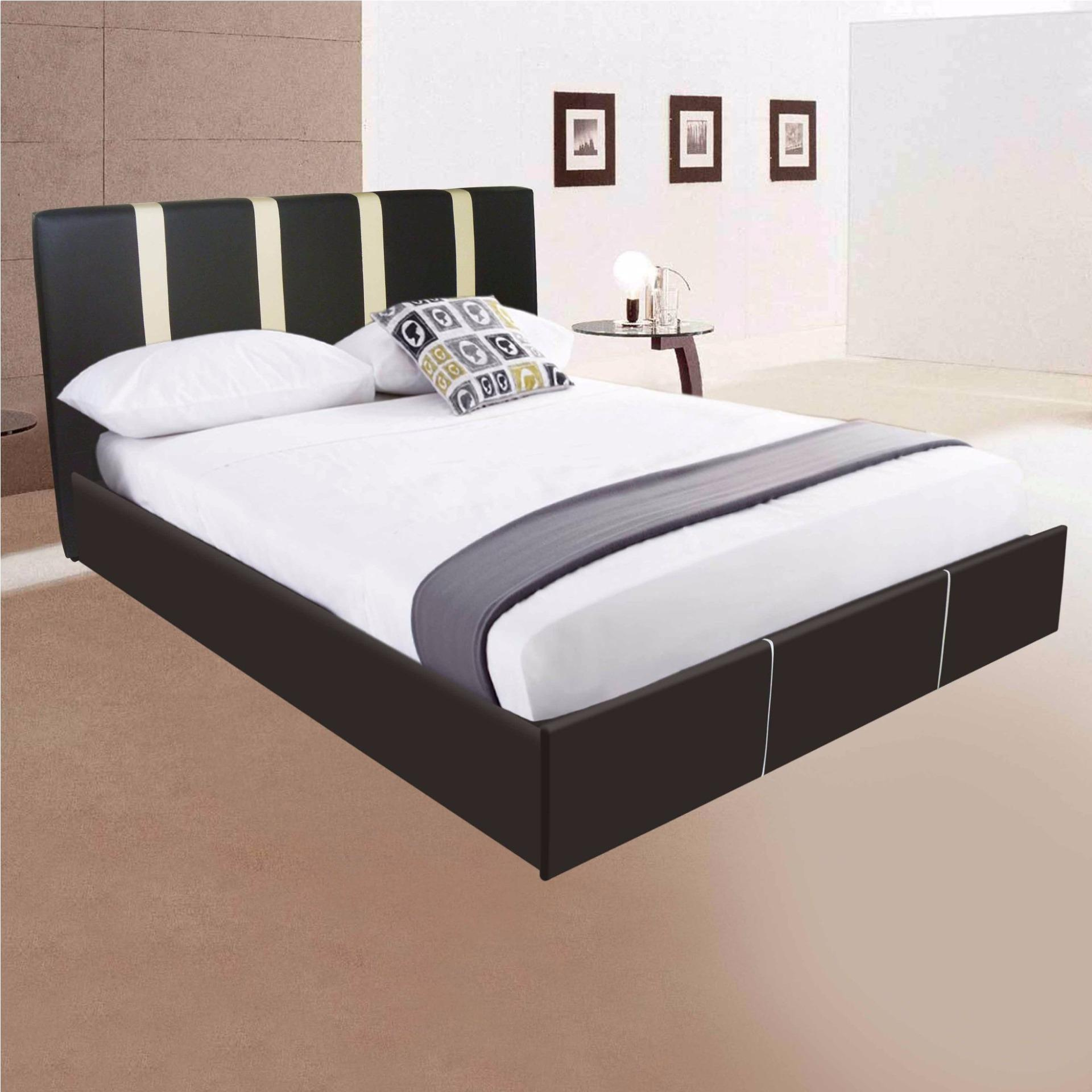 tailee furniture vinc queen size pu bed frame wenge