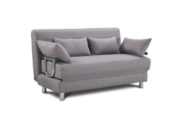 Tatum sofa bed with throw pillows grey lazada ph for Sofa bed lazada