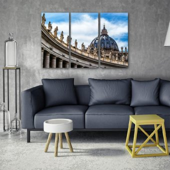 The Vatican 3-Piece Triptych Wall Art