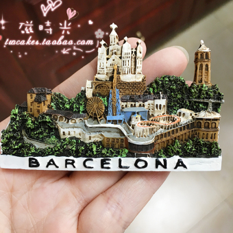 Travel commemorative landscape magnetic stickers fridge magnet