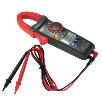 UNI-T UT213B Handheld Digital LCD Clamp Meter Multimeter AC/DC Voltage AC Current Resistance Capacitance Diode Continuity NCV Temperature Measurement Tester with Flashlight