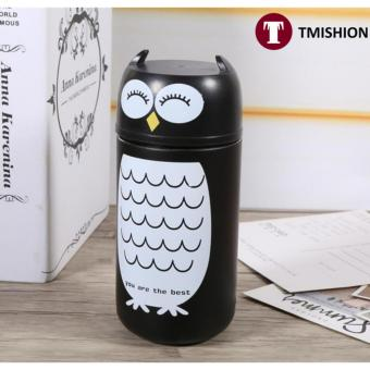 Vacuum Flask Unbreakable Owl Stainless Steel Coffee Bottle CupTravel Mug - intl