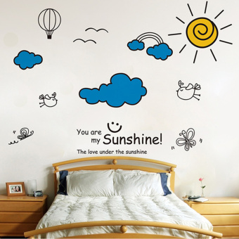 Warm and self-adhesive bedroom wall dormitory wall sticker Wallpaper