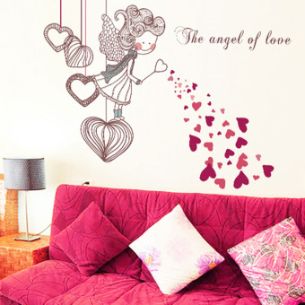 Warm bedroom living room background wall adhesive paper wall stickers