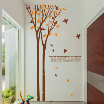 Warm fresh self-adhesive bedroom tree sticker wall stickers