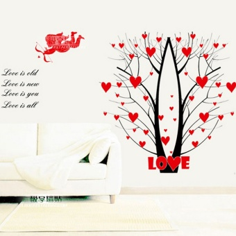 Warm princess lovely red rose flower sticker