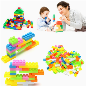 144pcs Plastic Studying Building Blocks Kids Puzzle Educational Toy Baby