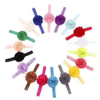 18pcs Cute Kids Girls Hair Accessories Elastic Band Flower HeadbandHair - intl