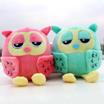 2pcs 8inch Popular Night Owl Plush Toy Baby Toys Stuffed AnimalDoll 2 Colors Soft Baby Birthday Gifts Kids Toy