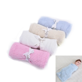 4Colors Newborn Baby Soft Cotton Banklet Receiving BlanketSwaddling Blankets - intl