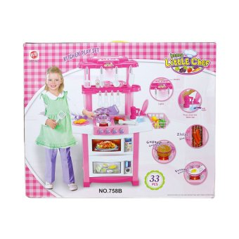 758 kitchen play set 33pcs pink lazada ph for Best kitchen set for 4 year old