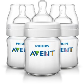 Avent Classic Plus BPA Free Polypropylene Bottles, 4 Oz, Pack of 3