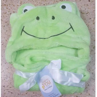 Baby Kid Hooded Bathrobe Bath Towel (GREEN)