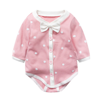Baby one-piece newborns spring long-sleeved romper