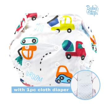 BABY STEPS Cars Baby Diapers with 1 pc Cloth Insert