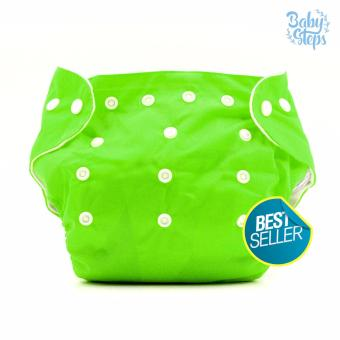 BABY STEPS Cloth Baby Diapers (Green)