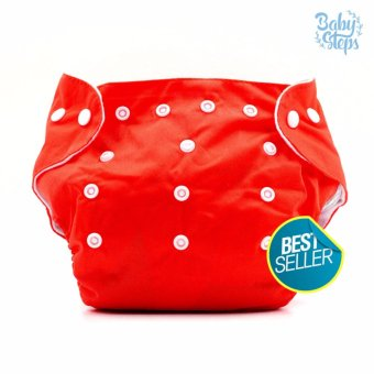 BABY STEPS Cloth Baby Diapers (Red )