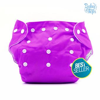 BABY STEPS Cloth Baby Diapers (Violet)