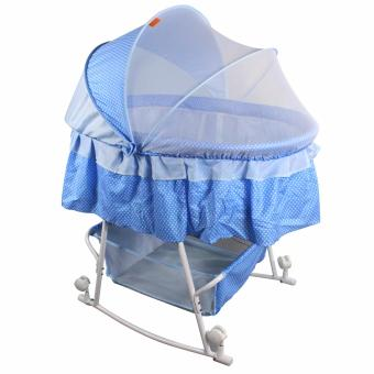 Beidi BD-601 Multifunctional Baby Cradle Bed/Crib/Rocker with LargeStorage Basket (Blue)