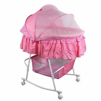 Beidi BD-601 Multifunctional Baby Cradle Bed/Crib/Rocker with LargeStorage Basket (Pink)