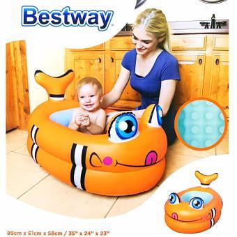 bestway phoenixhub inflatable baby bath tub orange fish 51125 lazada ph. Black Bedroom Furniture Sets. Home Design Ideas