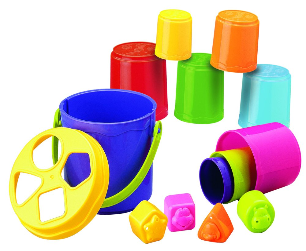 Crib toys for sale philippines - Blue Box Shape Sorting Stack N Nest Buckets