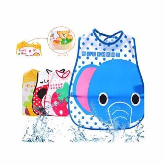 Boy PVC Waterproof Bibs Infant Baby Bibs PVC Saliva Towels for 6~36Month Set of 4 Assorted Character
