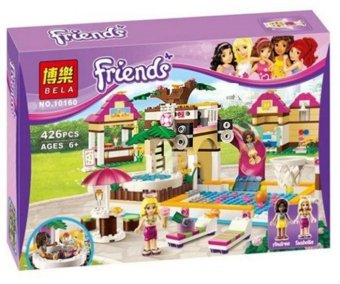Building Blocks Friends Heartlake City Pool Construction Educational Brick Toys for Girls Compatible with Lego Bricks