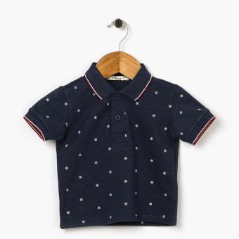 Crib Couture Boys Sailor Pique Polo Shirt (Navy Blue)