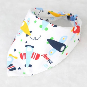 Cute Baby Soft Cotton Saliva Towel Newborn Infants Triangle Dribble Bibs- #3 - intl