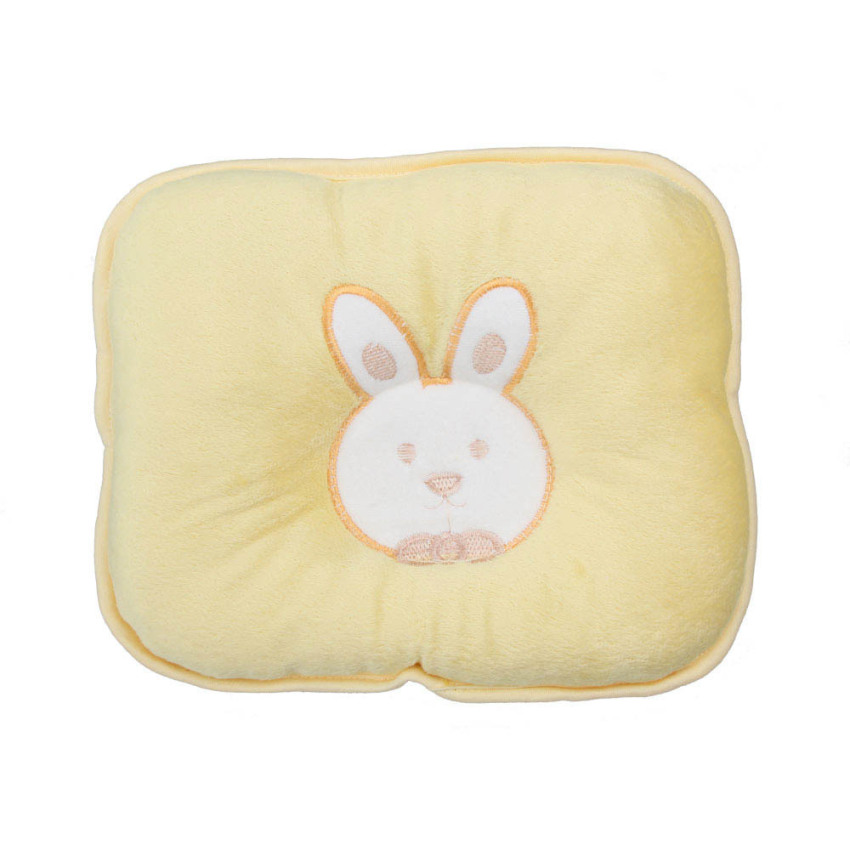 Cute Soft Infant Baby Pillow Bunny Head Shape Seven-hollow Fibre Yellow Lazada PH