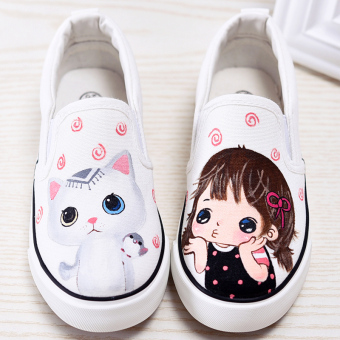Female hand-painted sail cloth shoes girls cloth shoes