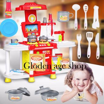 Fisher price big size kitchen set red lazada ph for Best kitchen set for 4 year old
