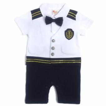 Formal Sailor Romper (White/Navy) for 6 to 9 Months Old