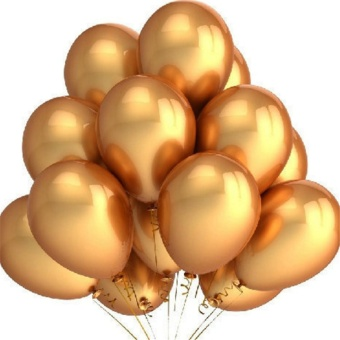 Gold Balloons 10pcs/lot 12 Inch Thick 2.8g Inflatable Latex Helium Balloons Wedding Happy Birthday Party Decoration Air Balloons - intl