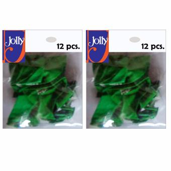 Happy Birthday Balloons 12`s Green Set of 2