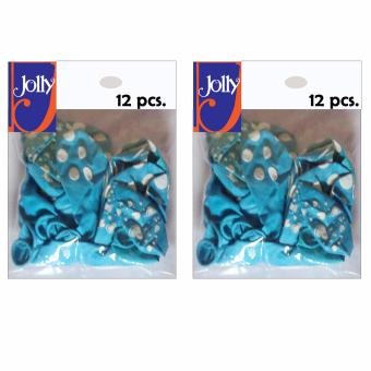 Happy Birthday Balloons 12`s Light Blue Set of 2