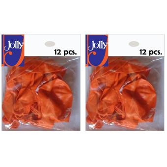 Happy Birthday Balloons 12`s Orange Set of 2