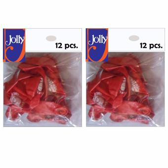 Happy Birthday Balloons 12`s Red Set of 2