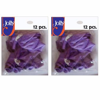 Happy Birthday Balloons 12`s Violet Set of 2
