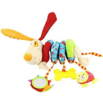 Happy Monkey Newborn Soft Plush Toys Baby Crib Hanging Toys Stroller Playing Toy Car Lathe Hanging Baby Rattle Teether - intl