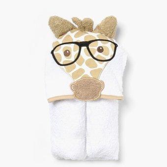 Hush Hush Giraffe Hooded Towel (White)
