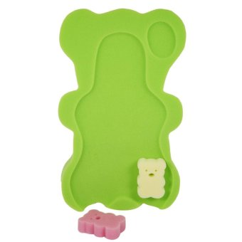 Infant Baby Bathing Pad Non-Slip Air Cushion Bathtub Mat NewBornSafety Support Shower Seat- dark green - intl
